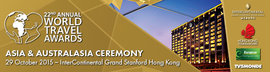 InterContinental Grand Stanford Hong Kong to host World Travel Awards Asia & Australasia Gala Ceremony 2015